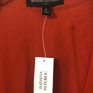 Banana Republic Dresses - Dark orange wrap dress